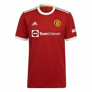 NEW Official 2021/22 Manchester United Adidas Mens Home Jersey