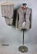 Vintage Tweed Check 3 4 Piece Suit Breeks Classic Gamekeeper Button Fly Unworn