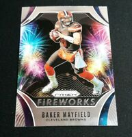 B67 Baker Mayfield Fireworks Insert Panini Prizm 2019 Cleveland Browns