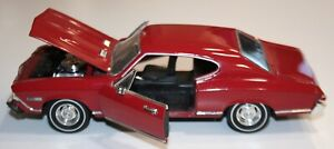 1968 Chevy Chevelle SS396 Hardtop Red 1:24 Die Cast- As Is