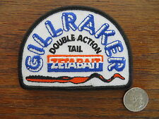 Vintage Mint Fishing Patch - GILLRAKER DOUBLE ACTION TAIL ZETABAIT - 4  inch