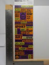 REMINISCE HAUNTED HALLOWEEN WORDS SPOOKY SCARY DIE CUT STICKERS NEW A10290