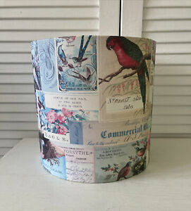Bird Lampshade Paper Vintage Style Bohemian Shabby Chic Eclectic Cottagecore