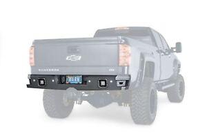 Warn Ascent Rear Bumper Black For 14-18 GM Silverado Sierra 1500 2500 3500 96550