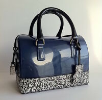 FURLA Rubber Jelly MINI CANDY BAG GRAFFITI Print LEATHER Satchel Bag Handbag NWT