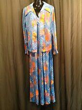 TRUE Vtg. 70's 2 pc. Retro Mod BOHO HIPPIE  DRESS Women's Size 16
