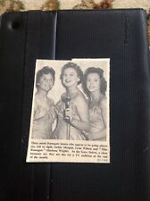 71-7 Ephemera 1957 Ramsgate Jackie Morgan Lena Wilson B Wright Gaye Sisters