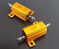 10Pcs 10W Watt Power Metal Shell Wirewound Resistor 0.1 Ω ~ 1 8Ω ohm Class J ±5%
