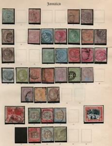 JAMAICA: Queen Victoria Examples - Ex-Old Time Collection - Album Page (38434)
