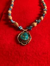 Native American Church Dead Pawn Gourd Navajo Apache Sterling turquoise Necklace