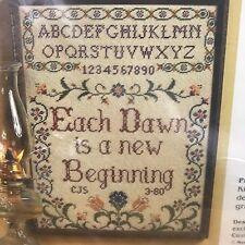 Each Dawn Is A New Beginning mesh canvas Wool Yarn needlepoint kit