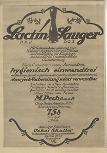Lactin Baby-Sauger Kaiserin Auguste-Victoria-Haus O.Skaller Berlin N.Annonce1917