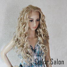 Lace Front Full Wigs Glueless Synthétique Perruque Couleur Mixte 99#613M27