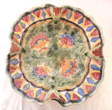 Vintage Beswick Scalloped Bowl With Sgraffito Decoration No 794 c.1939
