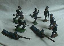 FIGURINE ALUMINIUM genre Quiralu et divers ensemble de 8 soldats marins