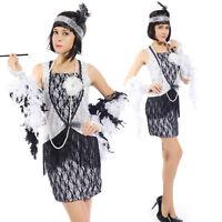 Ladies 20s Vintage Flapper Dress Charleston Gatsby outfit Fringe Tassel Costume