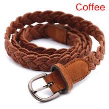 Women Fashion Elastic Cinch Belt Wide Stretch Waist Band Hemp Rope Braid j$