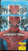 The Amazing Spider-Man (Blu-ray/DVD, 2012, 3-Disc Set) w/ Slipcover Like New