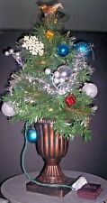 """24"""" table top- Battery decorated- Artificial Tree with vase and blinking lights"""