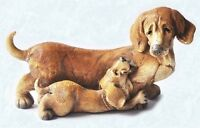 Scruff & Puss Figurine #4248 Dachshund Type Dog with Puppy