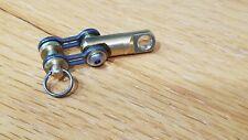 Edc Titanium Bike Link Connector Kit w/swivel for Carabiner, Keychain