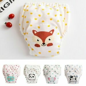 1PC Baby Diaper Pant Washable Cloth Pants Toddlers Kids Waterproof Nappies Cover