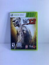 WWE '12 W'12 Microsoft Xbox 360 Video Game. Case and Game With Manual.