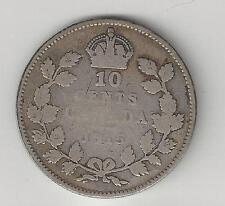 CANADA,  1915, 10 CENTS,  SILVER,  KM#23,  VERY GOOD  ( 002 )