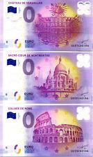 Série de 15 billets polymère, N° de la 2ème liasse, 2017, Billet 0 € Souvenir