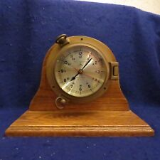 Bell Clock Co. Nautical Porthole Quartz Ships Mantle Clock EXC WORKING COND!