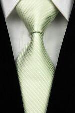 Green White Black Yellow Red New Stripe Striped Classic Silk Men Tie Necktie SH