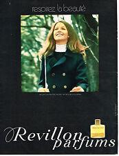 PUBLICITE ADVERTISING  1969    REVILLON   parfum DETCHEMA