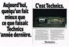 PUBLICITE ADVERTISING 054 1979  TECHNICS    hi-fi   chaine RSM 95 ( 2 pages)