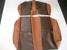 Club Car Precedent Golf Cart Deluxe Seat Covers-Front and Rear (2 Tone Brown)