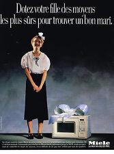 PUBLICITE ADVERTISING 064  1985  MIELE  four à   micro ondes