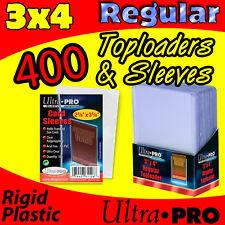 ツCASE 400 ULTRA PRO 3x4 TOPLOADERS & 400 SOFT CARD SLEEVES