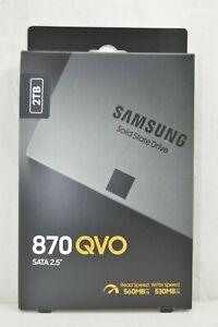 """Samsung 870 QVO 2TB 2.5"""" SATA III Internal SSD (MZ-77Q2T0B/AM)"""