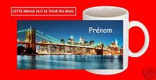 MUG TASSE CERAMIQUE NEW YORK TEXTE PRENOM  PERSONNALISABLE REF 3