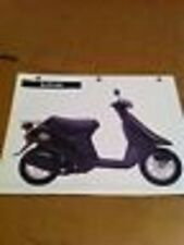 Specifications Features & Benifits Chart For The 1995 Honda Elite 50S
