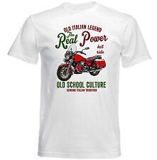 VINTAGE Italiano Motocicletta Moto Guzzi California-Nuovo T-shirt di cotone