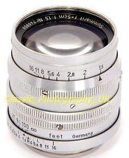 ! Raro! temprano LEICA LTM SUMMARIT F = 5 cm 1:1 .5 Rápido Lente principal hecha por LEITZ en 1949
