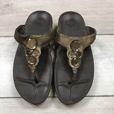 Fitflop Sandals Gem Brown UK 7 EUR 40
