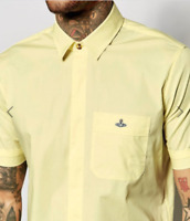 Yellow Vivienne Westwood short sleeved shirt, embroidered orb size S, M, L BNWT