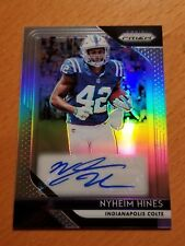 2018 Prizm Rookie Auto Nyheim Hines NC State Indianapolis Colts RB