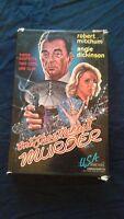 VHS One Shoe Makes It Murder UNCUT Robert Mitchum Angie Dickinson OOP Thriller