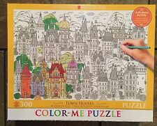 Color Me Jigsaw Puzzle 300 pc Town Houses BNIB Grown Up Relax City Architecture