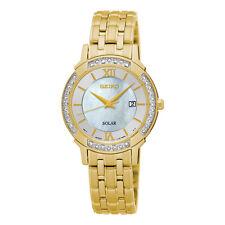 Seiko SUT280 SUT280P9 Ladies Solar Diamond Watch gold-tone WR30m RRP $850.00