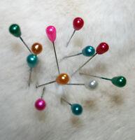 10 LONG TEARDROP PINS 55 mm Bridal Bouquets,Corsage  Florist Shawl Hijab Scarf