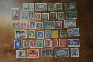 Nice lot of 40 G/F Canadian stamps no postmark, no gum