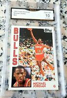 MICHAEL JORDAN 1984 Topps GLOSSY Rookie Card RC GEM MINT 10 1993 Chicago Bulls